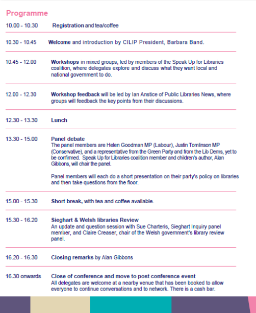 SUFL Conference 14  programme